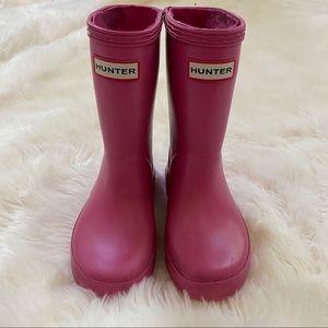 Toddler Girls Pink Hunter Boots